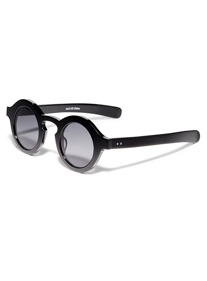 Black Cut Twelve Sunglasses