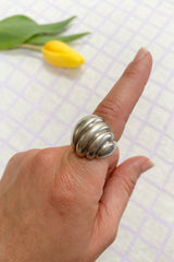 Sterling Sculpted Shell Ring