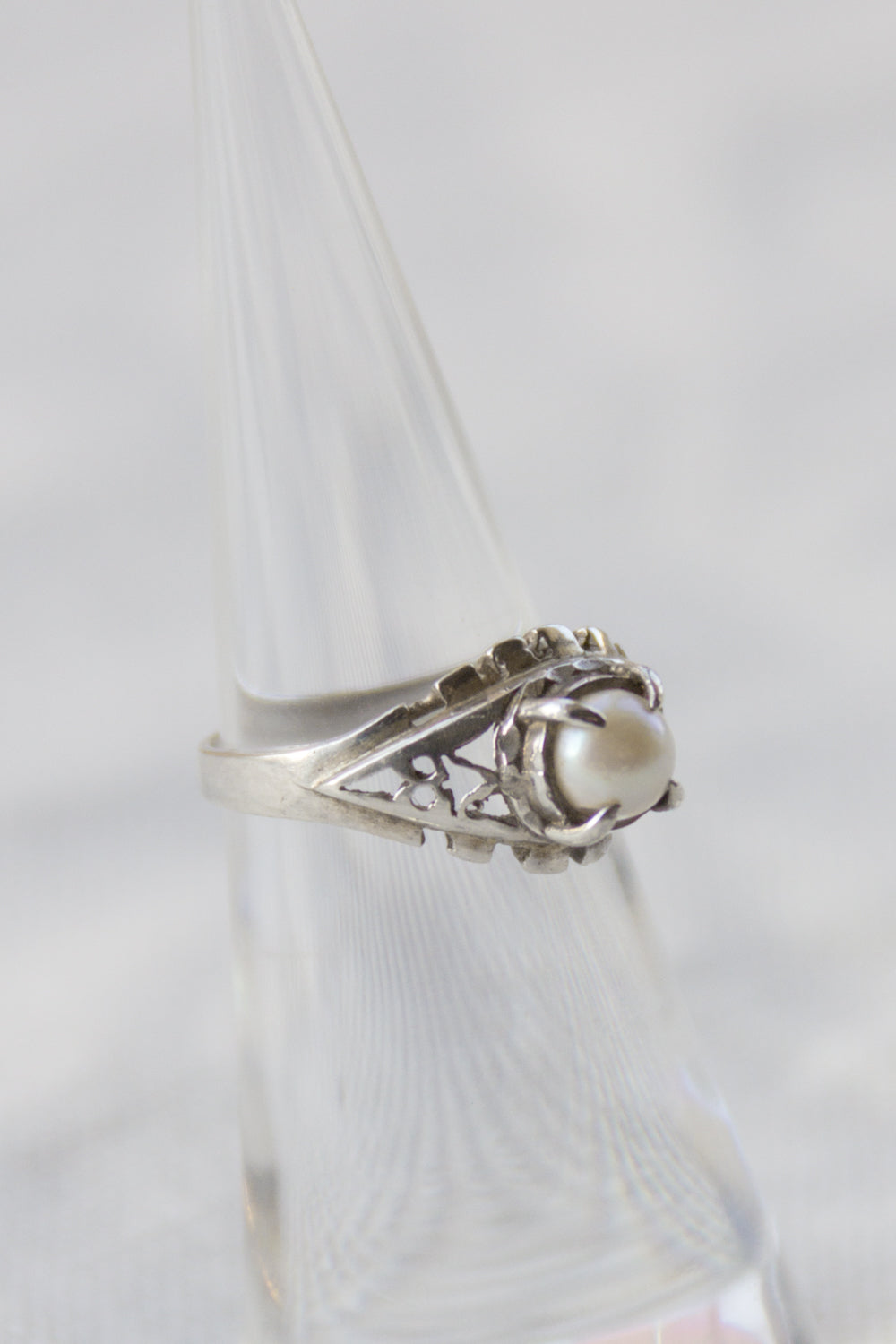 Sterling & Pearl Ornate Ring