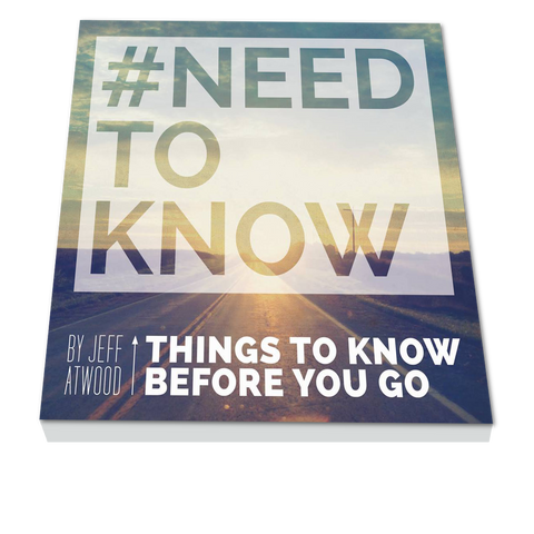#NEED TO KNOW: THE BOOK
