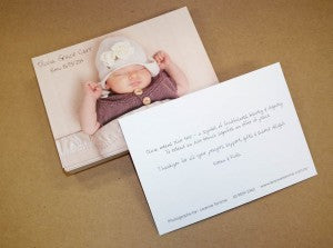 Baby announcement postcard web
