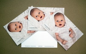 Baby birth announcement postcards web