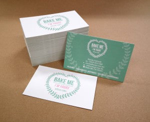 Bake me Business cards web