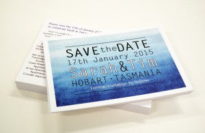 Blue save the date postcards web