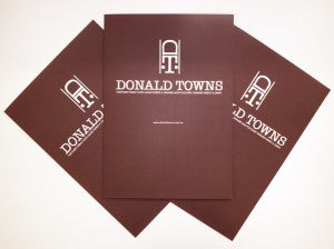 Donald towns A4 folded promotional flyer web