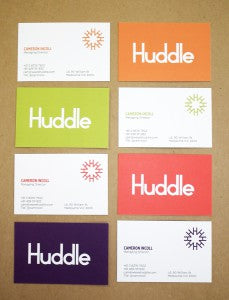 Huddle business cards web