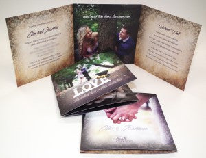 Jasmine & Alex tri fold wedding invitation web
