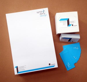 Letterhead and business card web