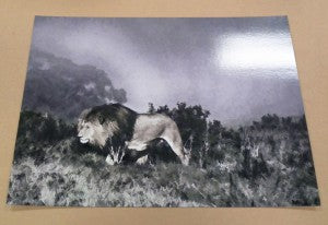 Lion artwork printed onto placematt web