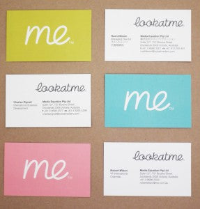 ME business cards three types web