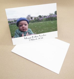 Maggie baby greeting cards with envelope web