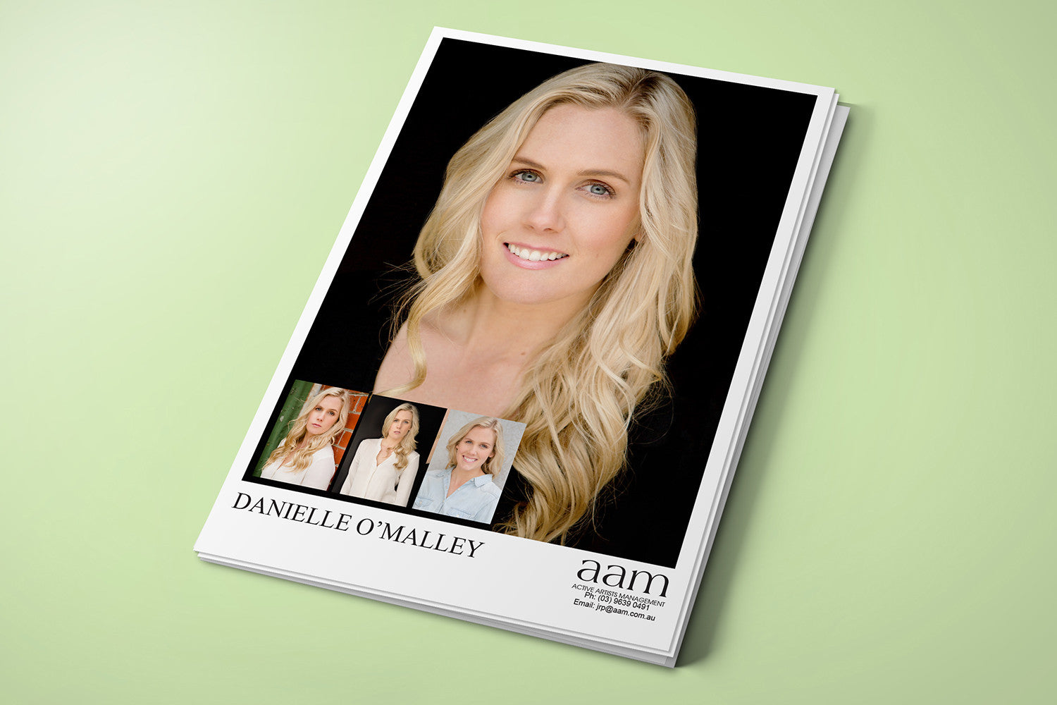 Actors Headshots Cards Gloss Laminated