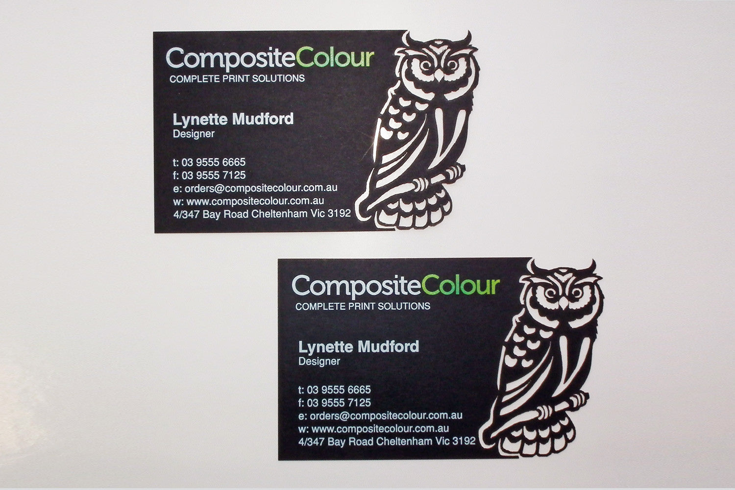 Laser Cut Business Cards – Composite Colour