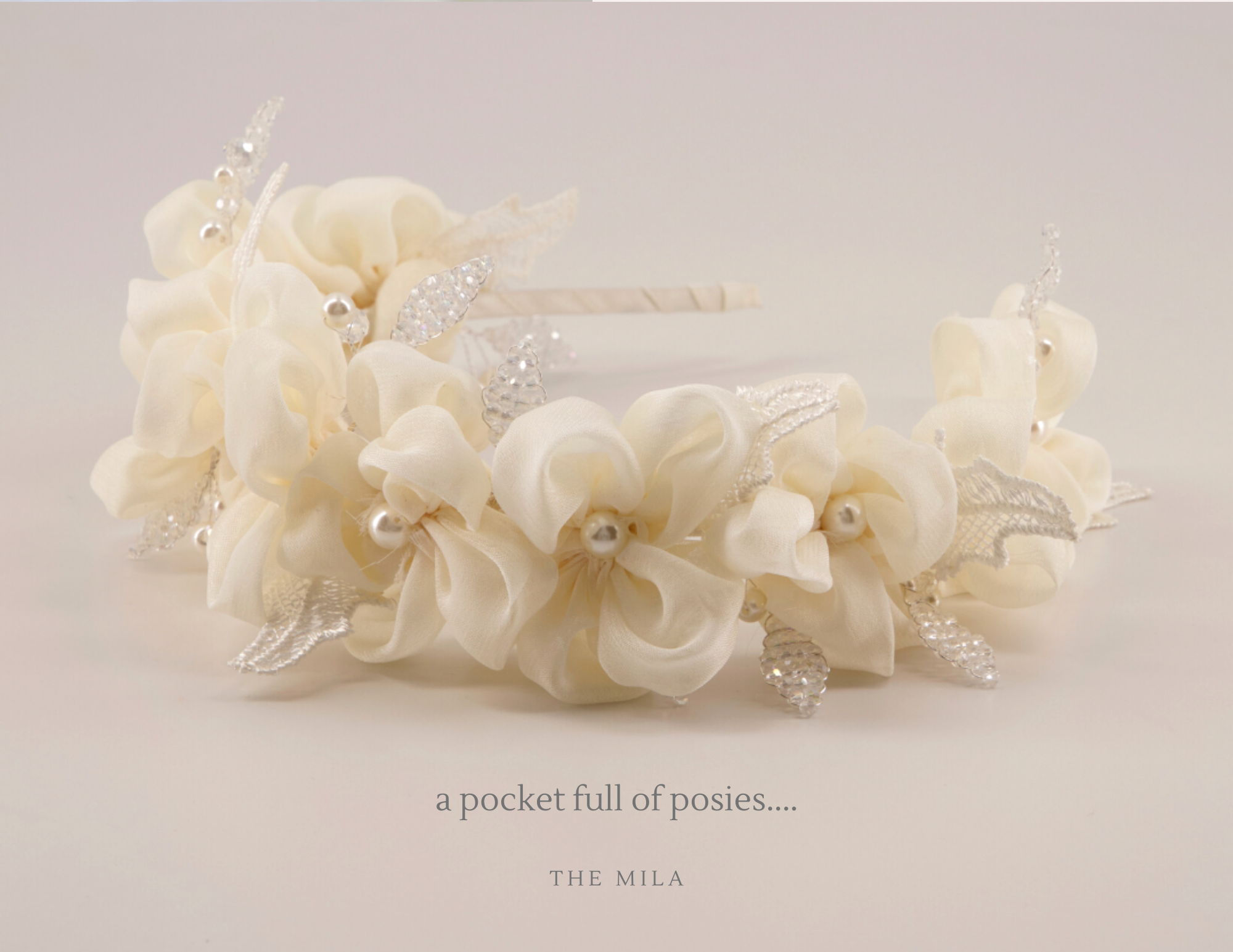 white vintage flower designer hair accessories
