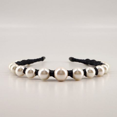Designer Pearl Headband by Sienna Likes to Party Accessories - The Vida