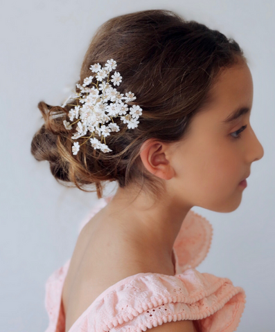 pretty girl wearing luxury hair accessories