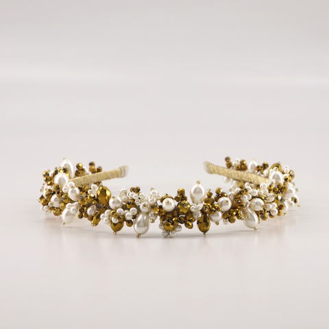 The Sachi statement pearl headband by Sienna Likes to Party Accessories