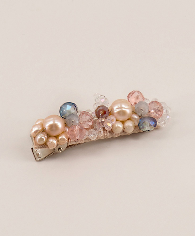 ingrid pearl and crystal freshwater clip