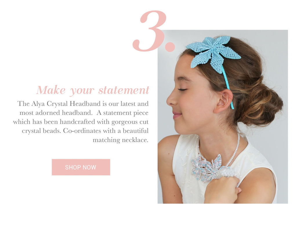 Designer Girls Headband | Sienna Likes to Party Luxury Childrens Accessories