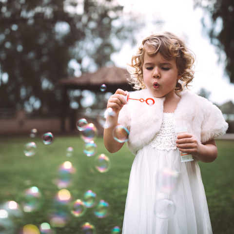What are flower girl duties - blowing bubbles at the wedding