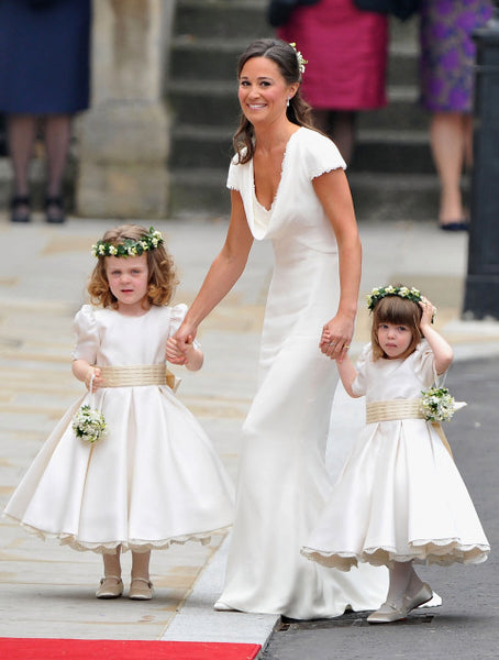 Kate and Pippa Middleton at Prince William and Kates Wedding - Flower Girls