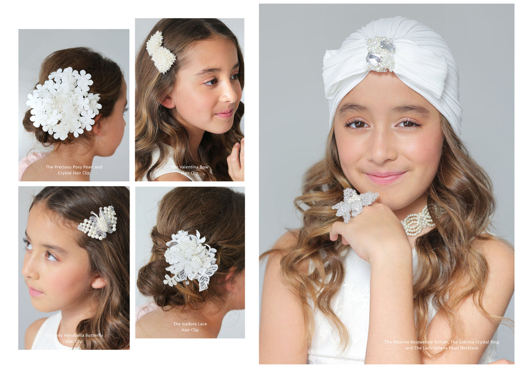 Designer Flower Girl Hair Accessories | Sienna Likes to Party