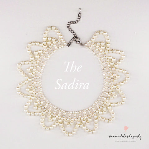 white pearl designer necklace