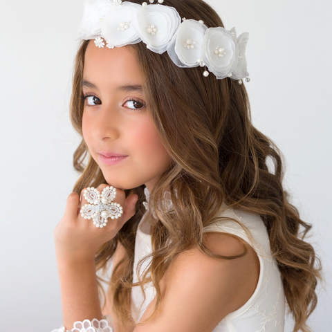 Handmade Flower Hair Garlands and Bridal Jewelry by Sienna Likes to Party Accessories