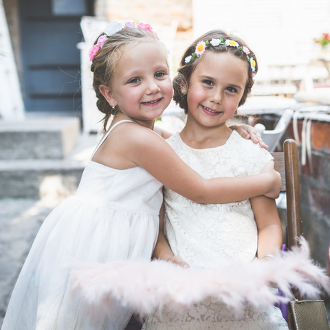 Cute flower girls and their role on the wedding day for the bride