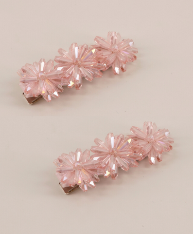 pink diamante hair clip