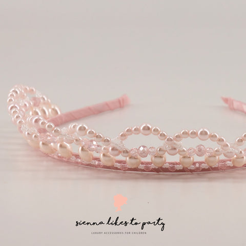 pink  pearl designer crown