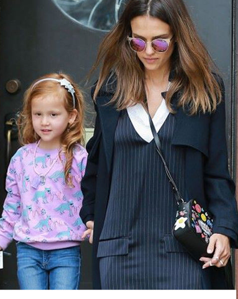 Jessica Alba's daughter wears Sienna Likes to Party Hair Accessories