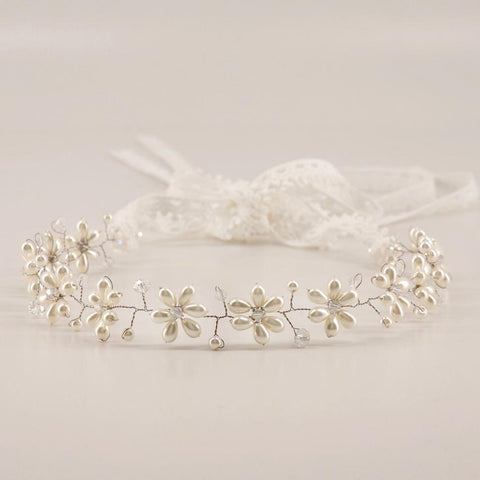 Pearl Flower Garland for Flower Girls by Sienna Likes to Party Accessories
