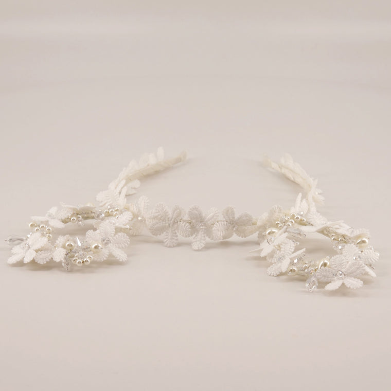 Sierra Lace and Crystal Ears Headband