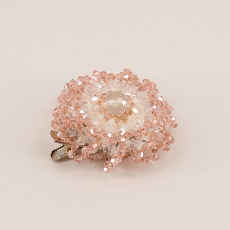 The Blushing Rose Crystal Hair Clip