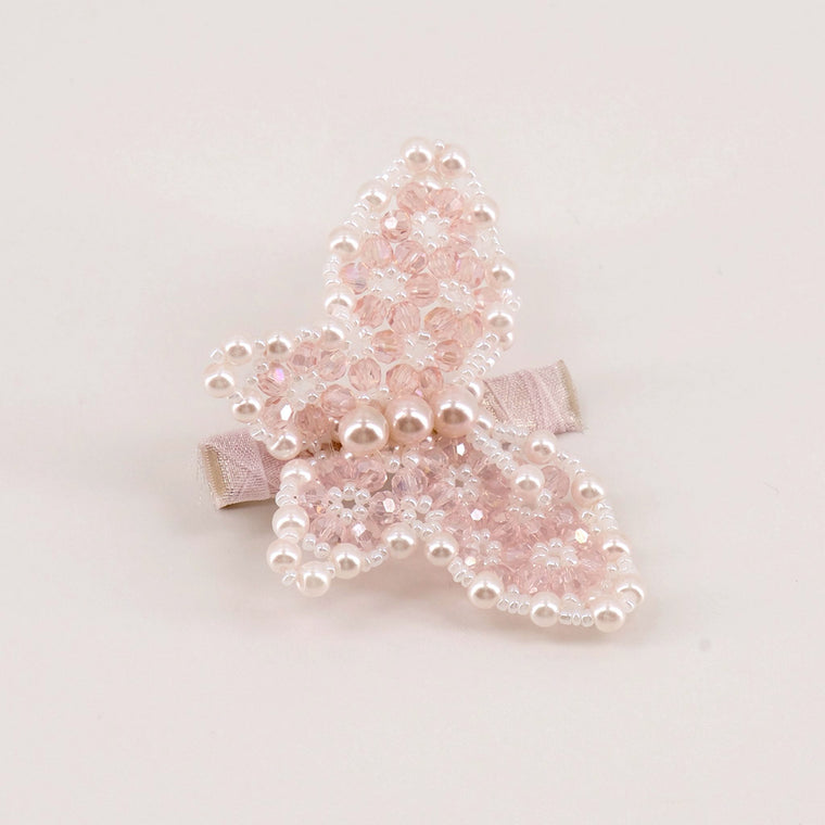 The Butterfly in Flight Crystal Hair Clip