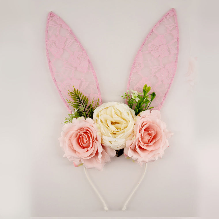 The Cybele Lace Bunny Ears Designer Girls Headband