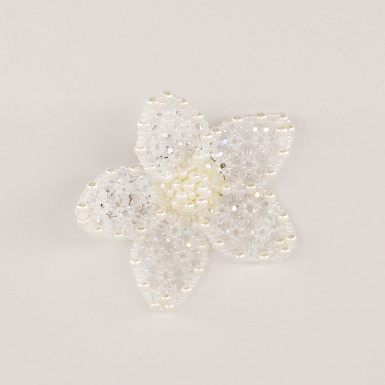 The Delphine White Pearl & Crystal Hair Clip Hair Slide Sienna Likes to Party