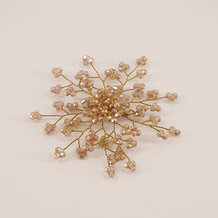 The Emmaline Crystal Flower Girls Hair Clip