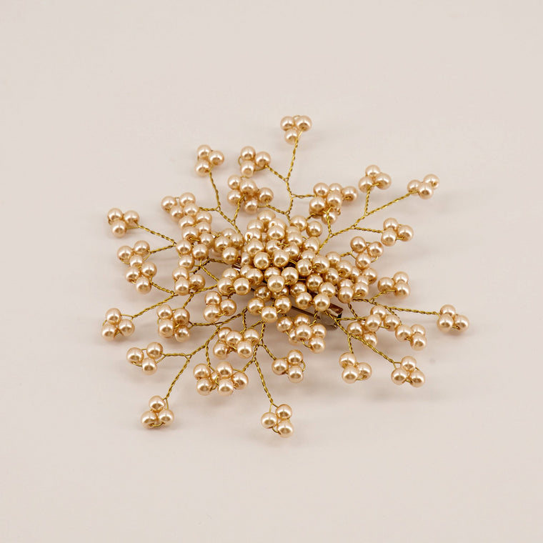 The Emmaline Pearl Flower Girls Hair Clip Hair Clip Sienna Likes To Party
