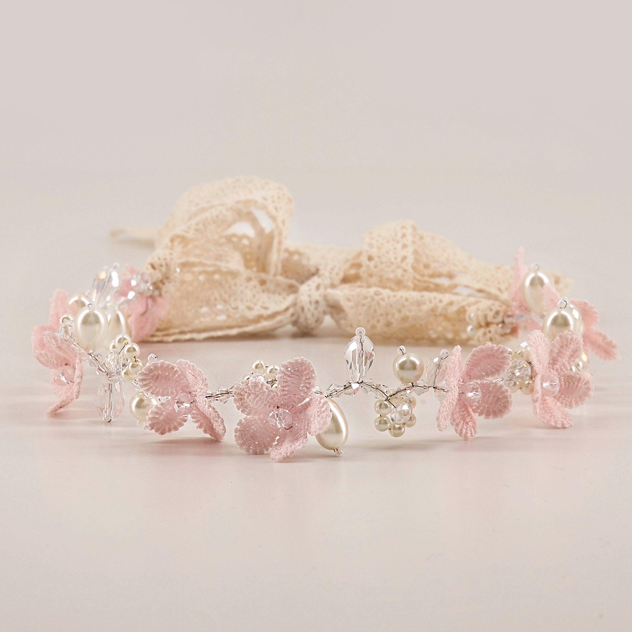 The English Primrose Flower Designer Girls Hair Garland Garland Sienna Likes To Party