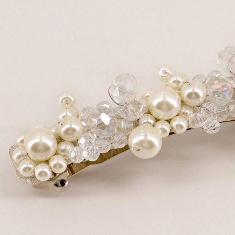 The Faith Pearl & Crystal Designer Girls Hair Clip Hair Clip Sienna Likes To Party