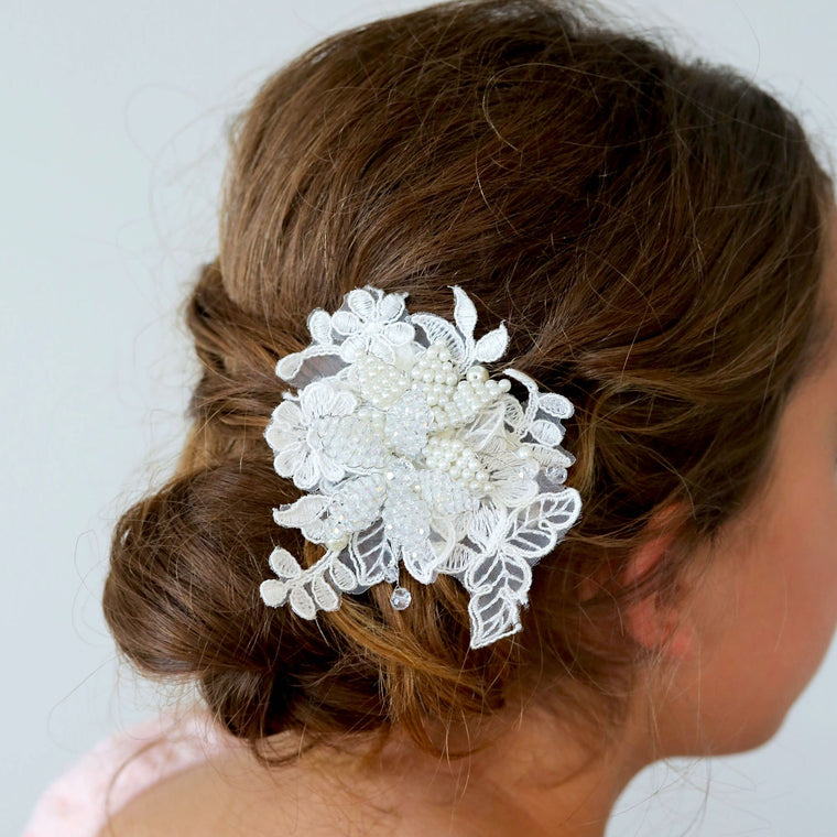 The Isadora Lace Girls Hair Clip