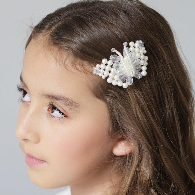 The Lady Annabella Pearl Butterfly Hair Clip