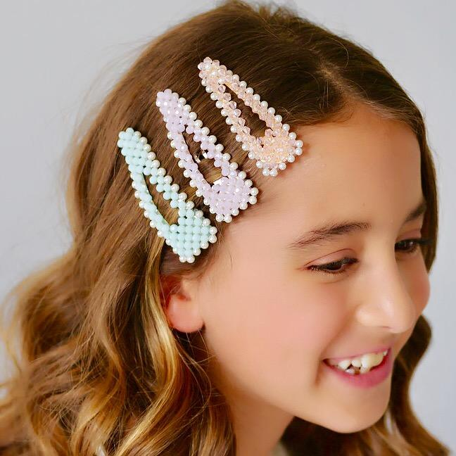 The Lady Jane Crystal & Pearl Designer Girls Barrette Hair Clip Sienna Likes To Party - Shop