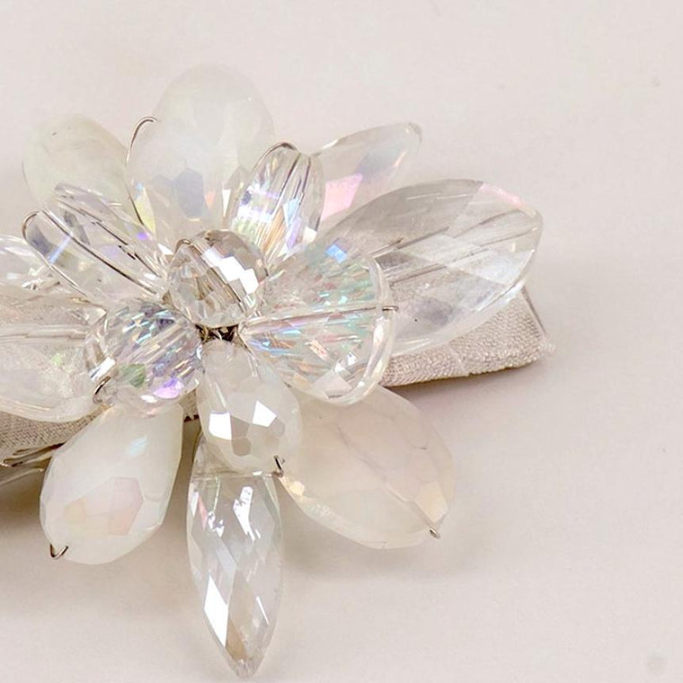 The Lila Crystal Flower Designer Girls Hairclip Hair Clip Sienna Likes To Party