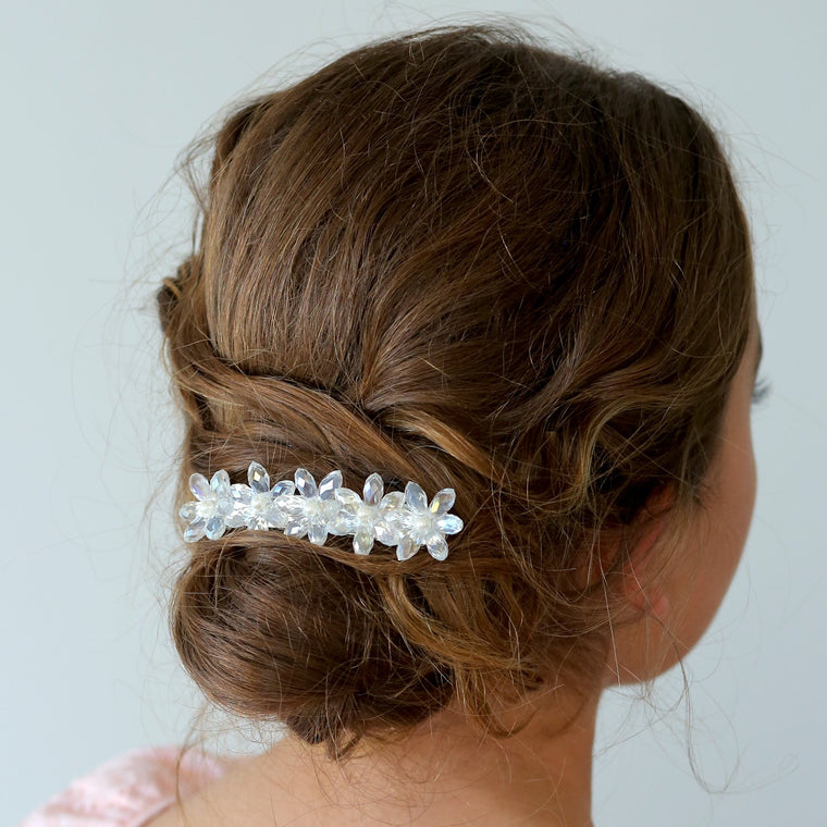 The Lyon Crystal Flower Designer Girls Hair Clip