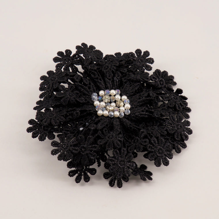 The Miss Hepburn Pearl & Crystal Designer Girls Hair Clip