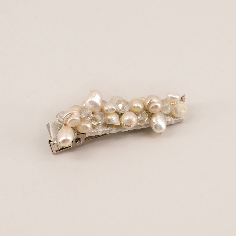 The Natalia Fresh Water Pearl and Crystal Girls Hair Clip
