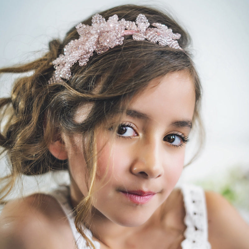 The Ophelia Bouquet Crystal Luxury Girls Headband Headband Sienna Likes to Party